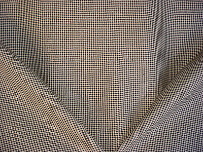 7+Y Ralph Lauren LCF65195F Trisan Linen Houndstooth in Chess Upholstery Fabric