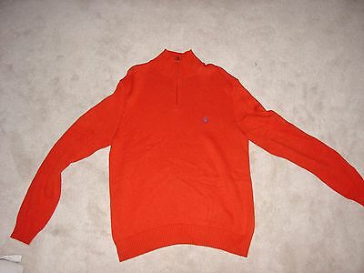 Polo by Ralph Lauren Orange 1/4 Zip Sweater, Size Medium, New without Tags