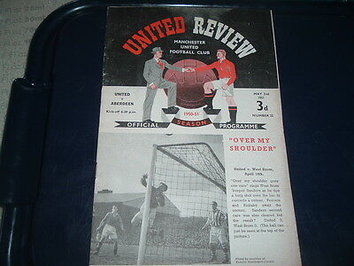 Manchester Utd v Aberdeen May 1951 friendly