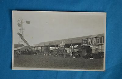 1910 Real Photo RP Postcard Agricultural Show Farm Machinery Powell Salisbury