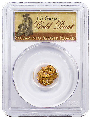 1.5 g Gold Dust - Sacramento Assayer Hoard PCGS Certified SKU47524