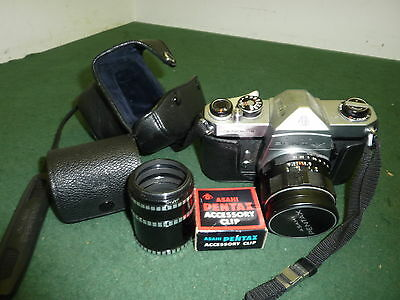Vintage Asahi Pentax Spotmatic 35mm SLR Film Camera with Lens & Case