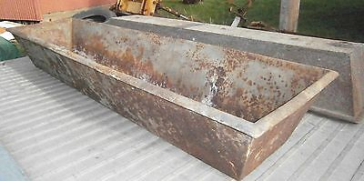 6 Ft Pig Iron Troth, Trough - Garden Planters, Water, Sink Tub