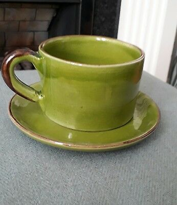 French Pottery Souleo Provence Breakfast Cup/Saucer