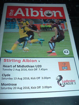 Stirling Albion v Hearts Aug 2016 Challenge Cup
