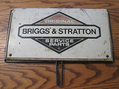 """Vintage Original Briggs & Stratton Service Parts Metal Two Sided Sign 15""""x8.5"""""""