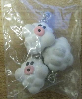 Lot of 3 Nintendo Cloud Charm White!!