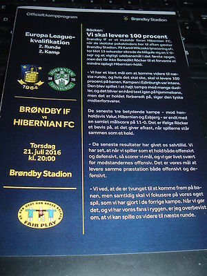 Brondby v Hibernian July 2016 Europa League