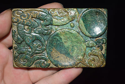Chinese , noble collection, manual sculpture, jade,dragon,inkstone