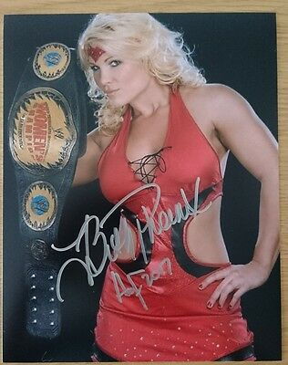 WWE WWF Beth Phoenix signed 10x8 photo PROOF AFTAL