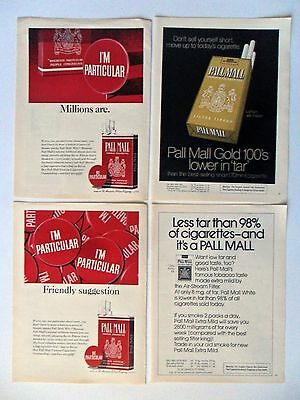 Lot of 20 Different Pall Mall Cigarettes Magazine Print Ads #3