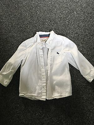 Boys Shirt 12-18 Months White 99p