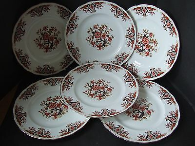"Colclough Bone China 8525 Pattern Royale 10.5"" Dinner Plates  x 6"