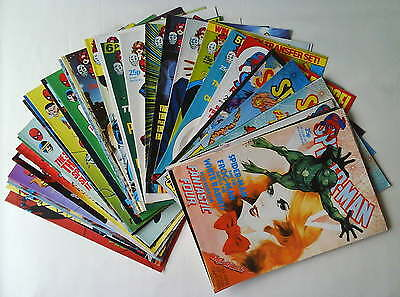 Rare SPIDER-MAN WEEKLY 40 Comics Job Lot No. 544 - 583 Marvel UK 1985 Fine/NM