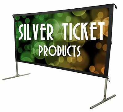 "STO-169180 180"" 16:9 HDTV Outdoor Portable Projector Screen Theater Backyard"