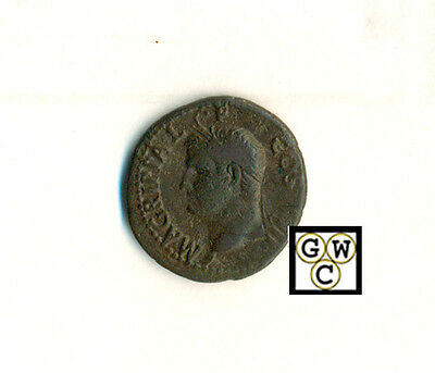 Marcus Agrippa AS , 63 BC - 12 BC ,  Sears 556  Very Fine.
