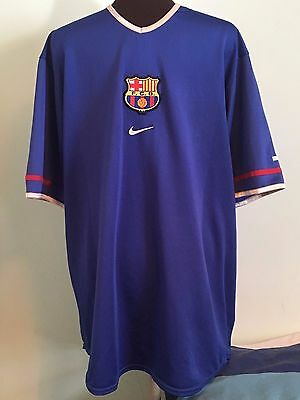 Official Barcelona Away Football Shirt By Nike Size Adult X-Large