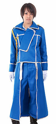 Fullmetal Alchemist Cosplay Costume State Military Colonel Roy Mustang Uniform