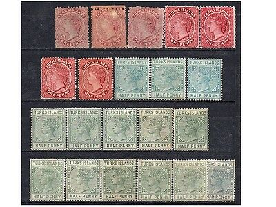 Turks Islands, Lot Of Stamps