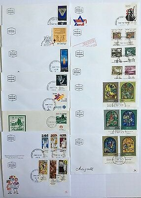 Israel 15 FDC covers issued in 1973, all with tabs