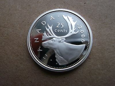 2006 Canada 25 Cent Silver Proof Coin-Heavy Cameo Gem