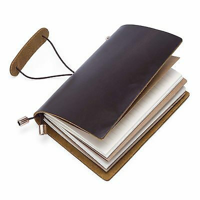 Retro Genuine Leather Bound Notebook Journal Diary 100% Recycled Handmade Paper