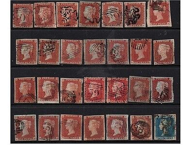Red Penny, Lot Of Stamps, Queen Victoria