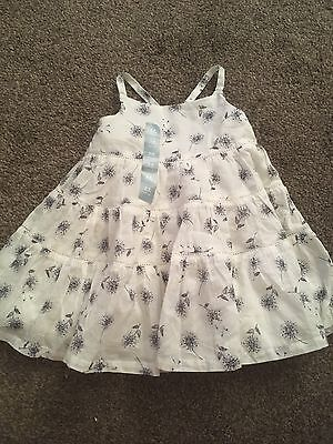 Baby Gap Girls White Blue Party Summer Dress & Pants BNWT 3-6 Months Gift