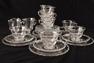 Fostoria Century Dessert Set Plus Cream and Sugar 25 Pcs Service For 8 Plate Cup