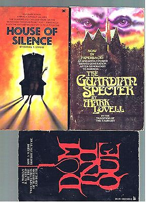 Vintage Horror Lot ~ House Of Silence + 2 ~ Movie Tie-In ~ Nice Cond