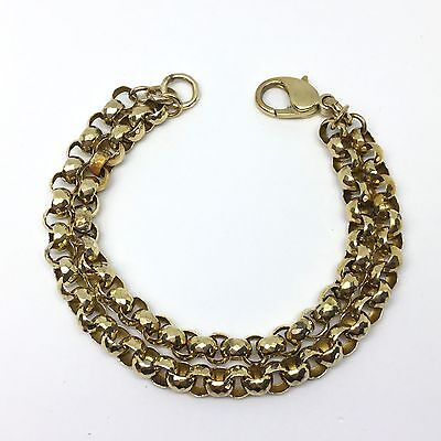 9ct Gold Double-Link Bracelet - 7.5 Inches