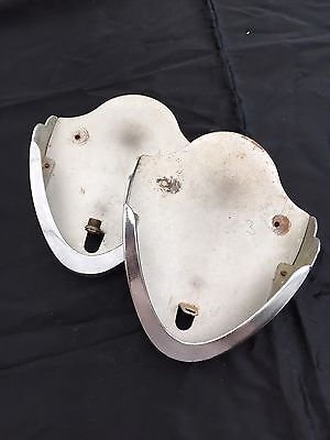 A PAIR OF VINTAGE 1930's  ART DECO CLAM SHELL WALL LIGHT BRACKETS/BACKPLATES