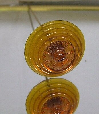 >>  Vintage   Czech    Art DECO CARNIVAL  Glass Hatpin - Irridized  Design >
