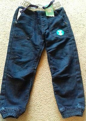 BNWT Toddler boy 3-4 years blue jogger jeans George baby boy NEW denim look