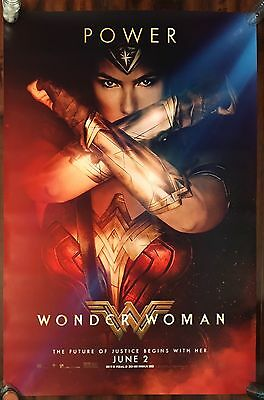 "DC Wonder Woman Movie Bus Shelter DS Poster HUGE 48"" X 70"""