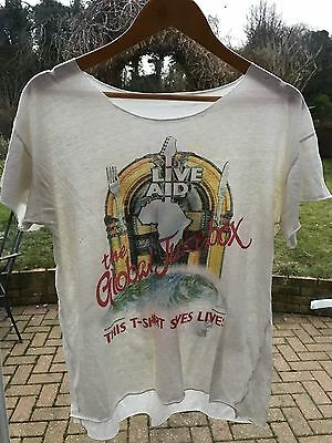 "LIVE AID 1985. Wembley Stadium Concert T Shirt. ""I Was There"" On Back."