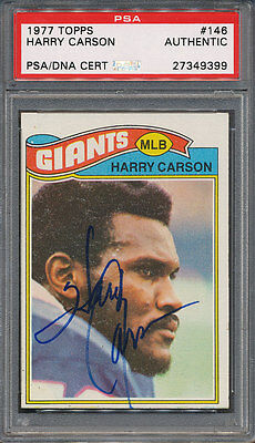 1977 Topps #146 Harry Carson PSA/DNA Certified Authentic Auto Autograph *9399