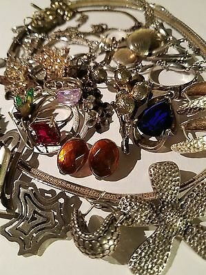 Assorted Vintage Sterling Silver Jewelry Lot