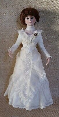 "14"" Sonja Bryer, Victorian lady with amazing dress plus 2nd dress on dress form"