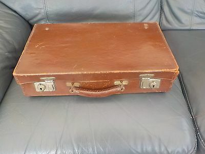 SMALL SUITCASE CASE LUGGAGE  VINTAGE OLD 1940s 50s COLLECTABLE STORAGE