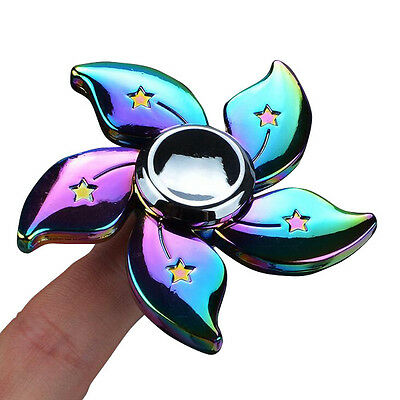 Rainbow Bauhinia Flower Fidget Spinner Hand Finger Desk Focus Toy Gyro EDC ADHD