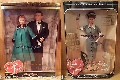 I Love Lucy Barbie Doll Lucille Ball Episode 50 50th Anniversary Pregnant Lot 2
