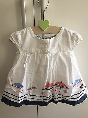 Gorgeous Baby Girls Junior J White Blouse Top Seaside Beach 12-18 M
