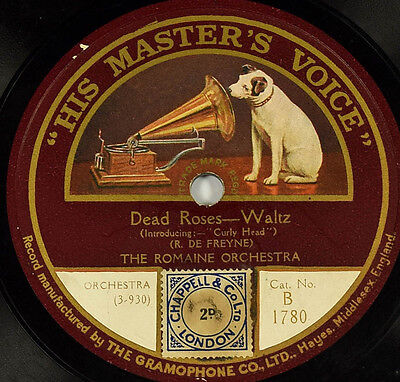 Schellackplatte 78rpm - The Romaine Orchestra - Lady of the Lake - gramophone
