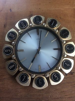 Vintage Retro Wall Clock by Metamec Fully Working Made in England Numbered to 12