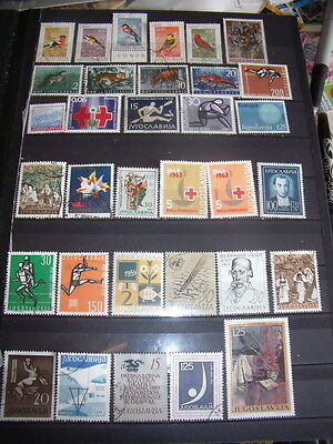 Yugoslavia Stamps Lot 1 X 148 Used / Cancelled With Gum Hinged Stamps – All Scan