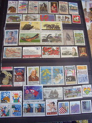 Usa America Stamps Lot 2 X 168 Mostly Used Stamps Some Mh No Gum - All Scanned B