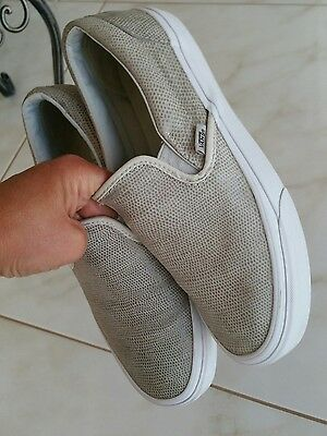 VANS  Leather Slip On Trainers Shoes SIZE UK6 EUR39