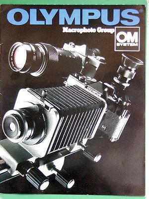 OLYMPUS OM MACRO GROUP BOOKLET 215mm x 280mm (8.5''x 11'') 14 pages 01/1982 RARE