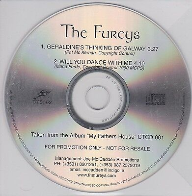 The Fureys Cd Single Geraldine's Thinking Of Galway Irish Traditional Folk